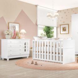 Quarto de Bebê Requinte com Berço/Cômoda 1 Porta