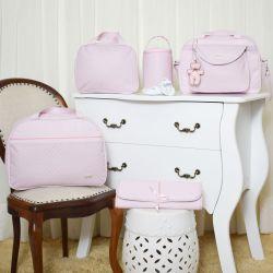 Conjunto de Bolsas Maternidade Valência Rosa