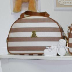 Frasqueira Maternidade Mónaco Bege Listrado 24cm