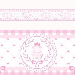 Faixa Adesiva de Parede Ursinha Clássica Rosa
