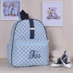 Mochila Maternidade Paris Azul Bebê Personalizada