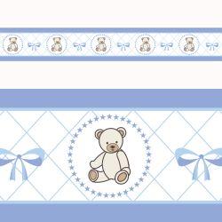Faixa Adesiva de Parede Teddy Azul