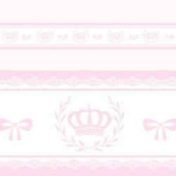 Faixa Adesiva de Parede Majestade Rosa