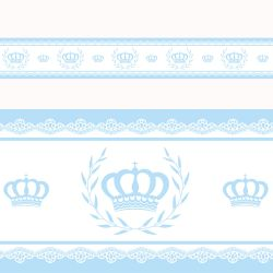 Faixa Adesiva de Parede Majestade Azul
