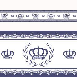 Faixa Adesiva de Parede Majestade Azul Marinho
