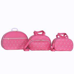 Conjunto de Bolsas Maternidade Florença Rosa Chiclete