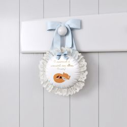 Porta Maternidade Raposinha Laranja