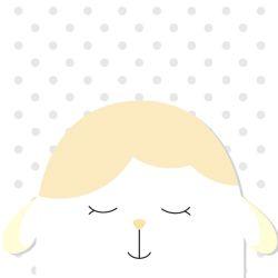 Quadro Amiguinho Carneirinho Amarelo/Branco