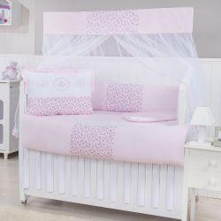 Kit Berço Elegance Coroas Rosa