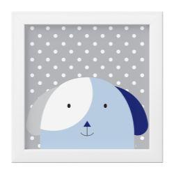 Quadro Amiguinho Cachorrinho Azul Marinho/Branco