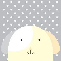 Quadro Amiguinho Cachorrinho Amarelo/Branco