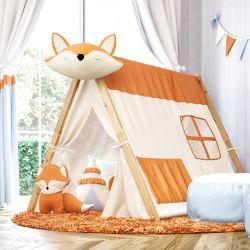 Cabana Quarto de Bebê Raposinha Laranja