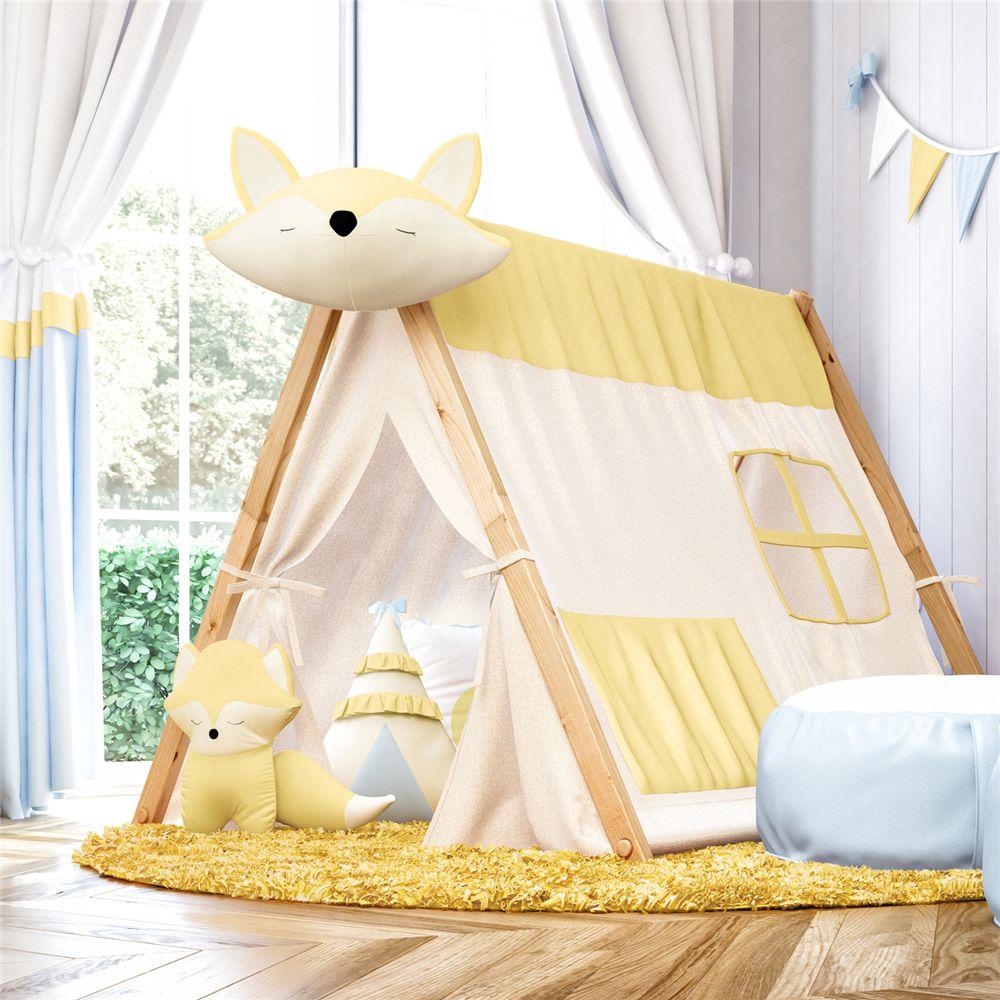 Cabana Infantil Branca e Amarela Raposinha Grão de Gente