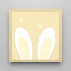 Quadro Amiguinho Orelhinhas Amarelo 18cm