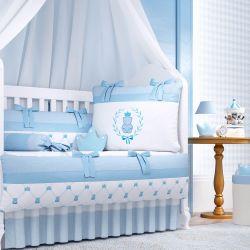 Quarto de Bebê Ursinho Clássico Azul 16 Peças