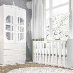 Quarto de Bebê Luíza com Berço/Guarda-Roupa 2 Portas