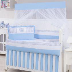 Kit Berço Elefantinho Azul Bebê