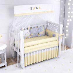 Quarto de Bebê Amiguinhos Amarelo 20 Peças