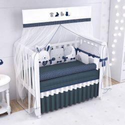 Quarto de Bebê Amiguinhos Azul Marinho 22 Peças