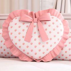 Almofada Coração Sophia Rosé 29cm