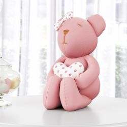 Ursa Clássica Rosé com Coração 42cm