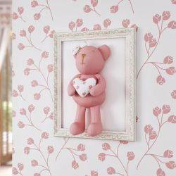 Quadro Ursa com Coração Sophia Rosé