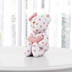 Ursa Clássica Florida com Coração 15cm
