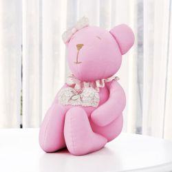 Ursa Rosa com Coração 42cm