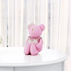 Ursa Rosa com Coração 15cm