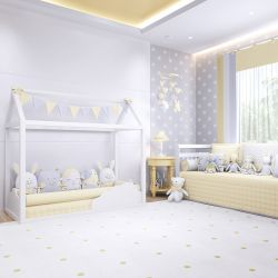 Quarto de Bebê Montessoriano Amiguinhos Amarelo