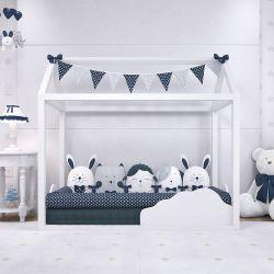 Quarto de Bebê Montessoriano Amiguinhos Azul Marinho