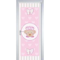 Adesivo de Porta Ursa Princesa