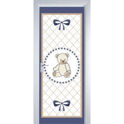 Adesivo de Porta Teddy Azul Marinho
