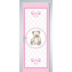 Adesivo de Porta Teddy Rosa