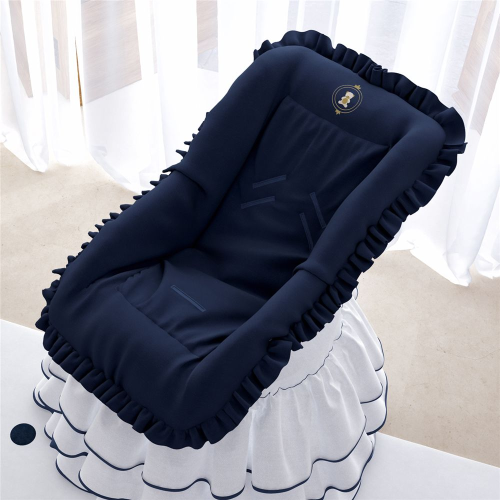 Capa de Bebê Conforto Urso Realeza Marinho Grão de Gente