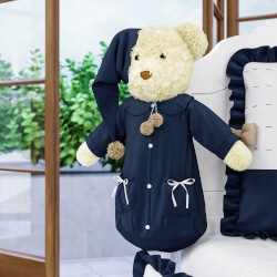 Porta Fraldas Urso Teddy Realeza 60cm