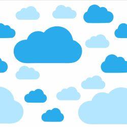 Adesivo de Parede Nuvem Azul