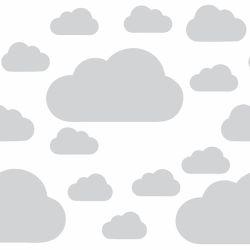 Adesivo de Parede Nuvem Cinza