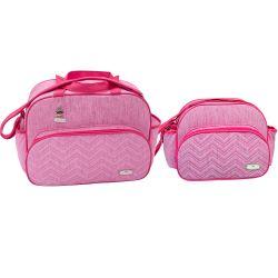 Conjunto de Bolsas Maternidade Matelassê Milão Pink