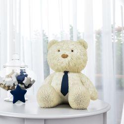 Urso com Gravata Azul Marinho 52cm