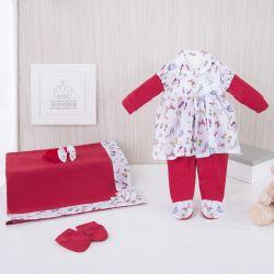 Saída Maternidade Butterfly Vermelho