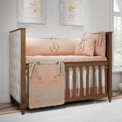Quarto de Bebê Realeza Rosé Premium 18 Peças