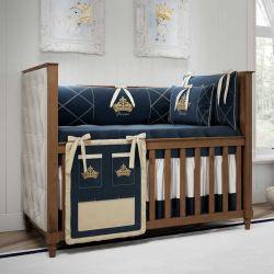 Quarto de Bebê Príncipe Marinho Premium 20 Peças