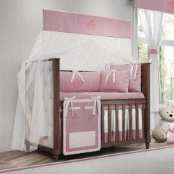 Quarto de Bebê Princesa Rosa Premium 20 Peças