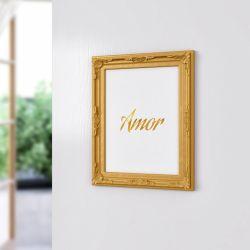 Quadro Provençal Amor Dourado 33cm