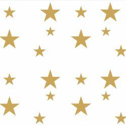 Adesivo de Parede Estrelas Douradas