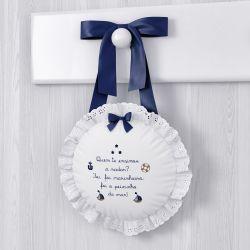 Porta Maternidade Urso Marinheiro Azul