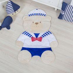 Tapete Urso Marinheiro Azul 1m