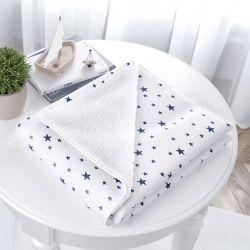 Cobertor Estrelinhas Azul Marinho