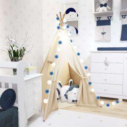 Cabana Quarto de Bebê Amiguinhos Azul Marinho